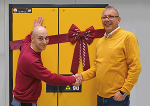 asecos produces 250,000th safety storage cabinet