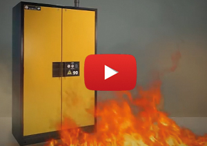 Video: safety features of a type 90 fire rated safety storage cabinet