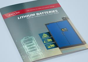 asecos brochure 'Lithium batteries – not as harmless as they seem'