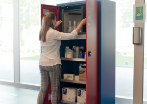 Storing hazardous materials and disinfectant safely
