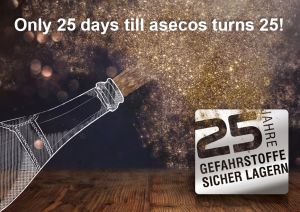 Mancano soltanto 25 giorni al 25° compleanno di asecos!