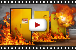Practical test: Different types of safety storage cabinet and how they behave in the event of a fire