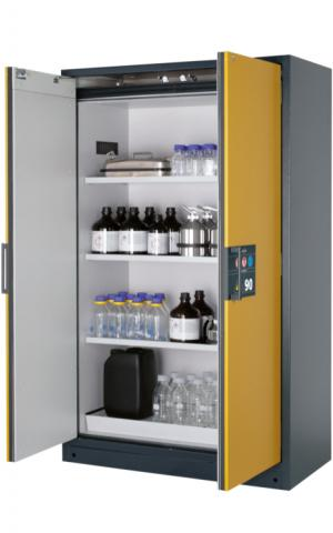 Flammable storage cabinet with 90 minutes fire resistance