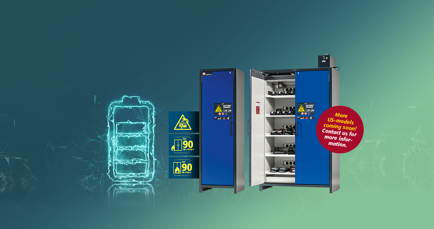asecos ION-LINE - Safe storage of lithium batteries