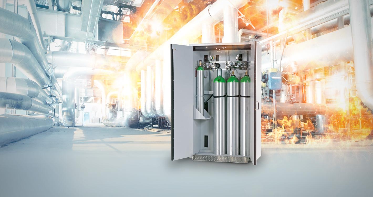 asecos G-LINE - Safe storage of compressed gas cylinders