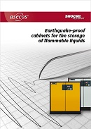 Earthquake-proof cabinets for the storage of flammable liquids