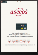 asecos: your trusted partner in the United Kingdom and Ireland for the safe internal storage of hazardous materials