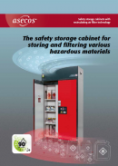 asecos: safety storage cabinets with recirculating air filter technology