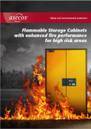 asecos Flammable Storage Cabinets with enhanced fire performance for high risk areas