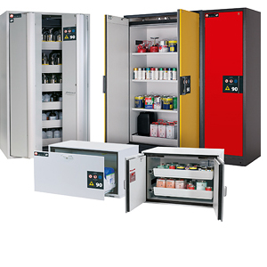 Overview of safety storage cabinets asecos