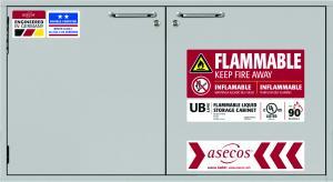 Safety storage under counter cabinets