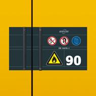 Aufkleberkonzept S-LINE Sicherheitsschränke