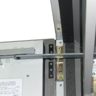 Slide bar door closer with open arrest system
