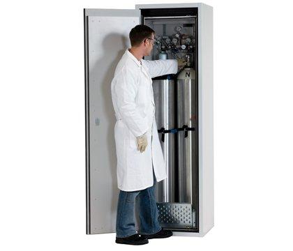 Druckgasflaschenschrank G-ULTIMATE-90, Standardinneneinrichtung, geeignet für bis zu 2 Druckgasflaschen à 50 Liter, Breite 60 cm