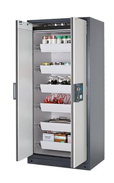 Safety storage cabinet Q-CLASSIC-90, 0,90m width, with drawers