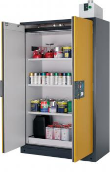 Safety storage cabinet Q-CLASSIC-90, 1,20m width, with shelves