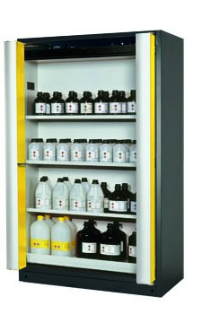 Safety storage cabinet Q-PHOENIX-90, 1,20m width, with shelves