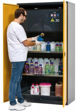 Cabinet for chemicals CS-CLASSIC-F with Type 30 safety box