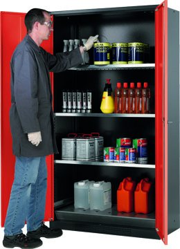 Cabinet for chemicals with 195cm height and 105cm width
