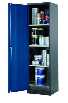 Cabinet for chemicals with 195cm height and 54cm width