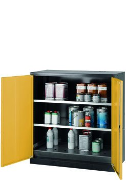 Cabinet for chemicals with wing doors