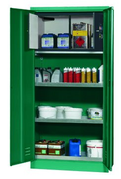 Cabinet for plant protection products with a Type 30 safety box