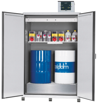 Drum cabinet with recirculating air filter system, width 155 cm