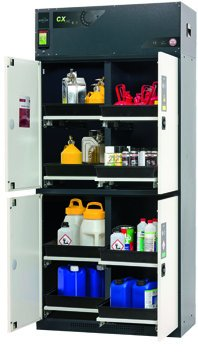 Recirculating air filter storage cabinet CX-CLASSIC-MultiRisk, 105cm width