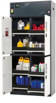 Recirculating air filter storage cabinet CX-CLASSIC-MultiRisk, 105cm width