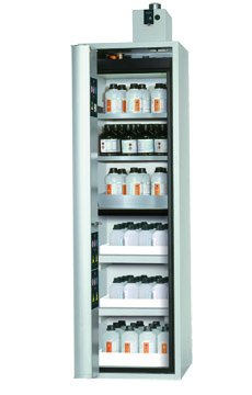 Combi safety storage cabinet K-CLASSIC-90, width 0,60m, incl extraction unit