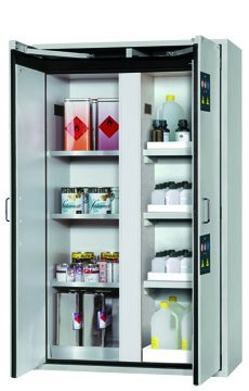 Combi safety storage cabinet K-CLASSIC-90, 1,20m width, metal-free interior equipment