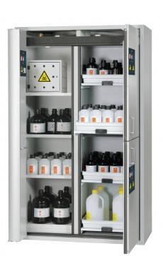 Combi safety storage cabinet K-PHOENIX-90, 1,20m width, incl. hazardous substances center