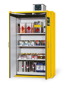 Safety storage cabinet S-CLASSIC-90, 1,20m width, with shelves