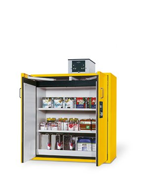 Safety storage cabinet S-CLASSIC-90, 1,20m width, 1,30m height, with shelves