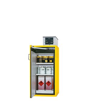 Safety storage cabinet S-CLASSIC-90, 0,60m width, 1,30m height, with shelves