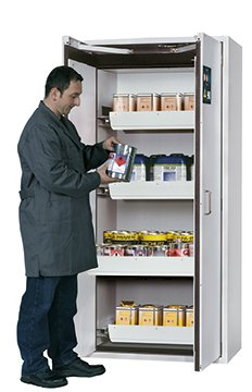 Safety storage cabinet S-CLASSIC-90, 0,90m width, with drawers