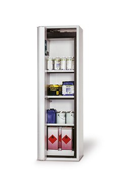 Safety storage cabinet S-PHOENIX-90, 0,60m width, with shelves