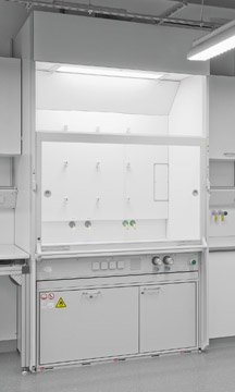 Third-party laboratory hood with a Type 90 safety storage under bench