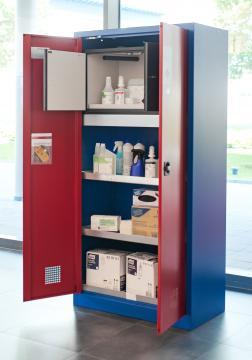 Exemple pratique : armoire environnementale E-LINE avec boîte de sécurité de type 30