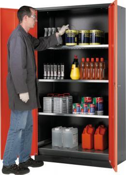 Armario para productos químicos con una altura de 195 de cm y 105 cm de ancho