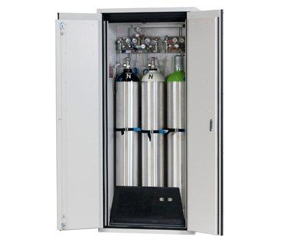 Szafa na butle gazowe G-ULTIMATE-90, standardowe wyposażenie wewnętrzne na 3 butle gazowe o pojemności 50 litrów, szerokość 90 cm