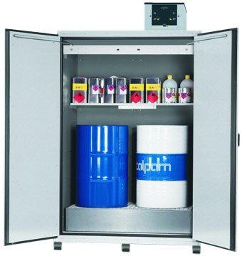 Szafa na beczki z recyrkulacyjnym systemem systemem filtracji powietrza, szerokość 155 cm