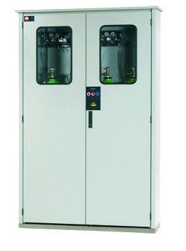 Armadio per bombole di gas, per installazione esterna di un massimo di 5 bombole di gas da 50 litri, larghezza 135cm
