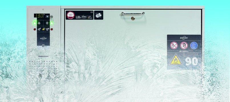 Armadio di sicurezza sottobanco con unità refrigerante e sistema a filtro per il ricircolo dell'aria