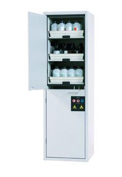 酸碱柜,带有 6 个可拉出搁板,宽 60 厘米
