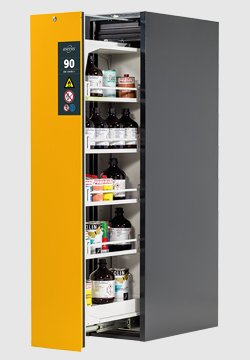 V-MOVE-90, 45 cm de Large, Design Bicolore : Gris anthracite/Jaune sécurité