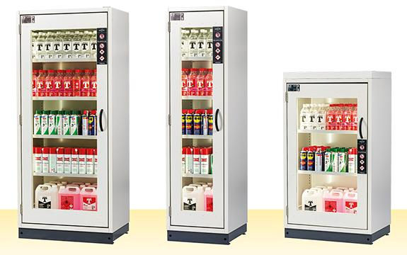 asecos SP-LINE available in two different heights (195 cm, 145 cm) and widths (85 cm, 55 cm)