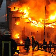 Fire at an industrial enterprise