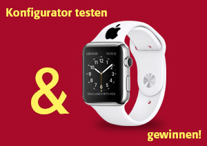 Messe Gewinnspiel - Konfigurator testen und Apple Watch gewinnen!