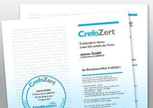 "Bonitätszertifikat ""CrefoZert"" für asecos"